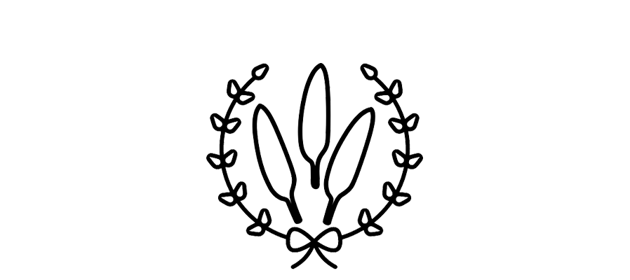 feathers and wreath icon